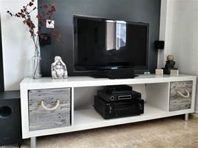 ikea tv stand hack ikea expedit tv stand with pallet boxes ikea hackers