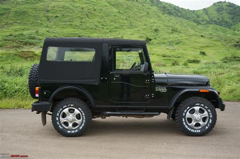open jeep modified in black colour 2015 mahindra thar facelift a close look team bhp
