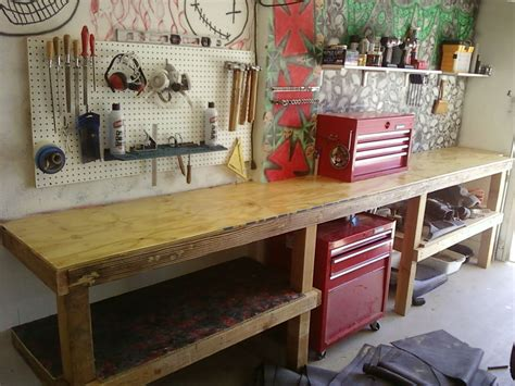 how to build your own bench download build your own garage workbench plans free