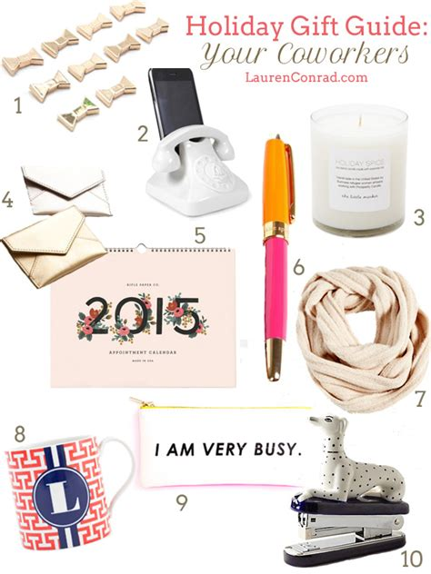 holiday gift guide for your coworkers lauren conrad
