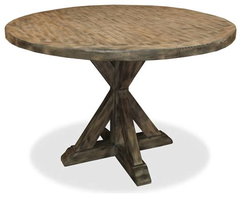seth recycled wooden dining table grey 54