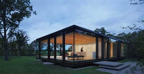 glass wall house designs getaway guest house design with glass walls and eco friendly room decor