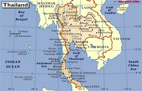map of thailand country thailand