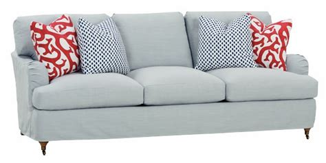 Apartment Size Slipcovered Sectional Arm Slipcovered Studio Sleeper Club Furniture