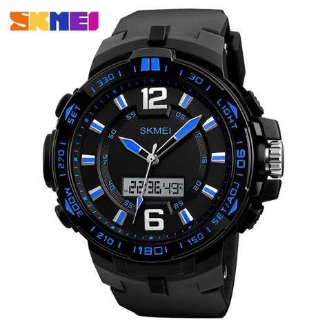 Skmei Jam Tangan Analog Digital Black Blue Ad1204 skmei jam tangan analog digital pria 1273 black blue jakartanotebook