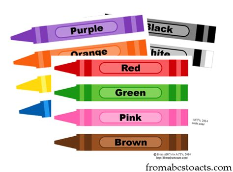 printable flashcards for toddlers colors printable crayon color flashcards from abcs to acts