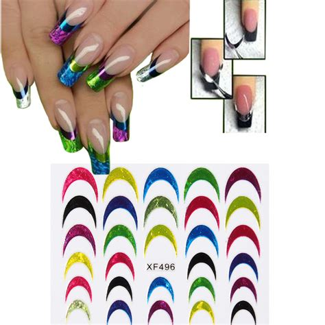 Manicure Stickers by Nail Transfer Stickers 3d Color Design Manicure