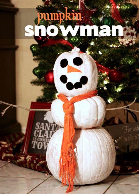 pumpkins decorated for christmas pumpkin snowman