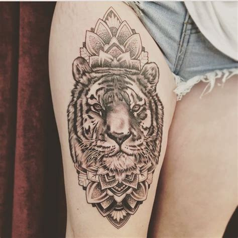 tiger thigh tattoo designs best 20 thigh designs ideas on