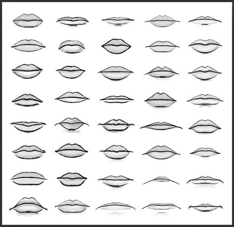 Drawing Mouths by Lip Shapes By Sheikah Deviantart On Deviantart