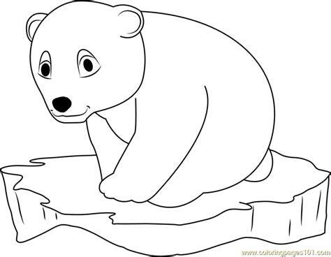 coloring pages the little polar bear little polar bear on ice surface coloring page free the