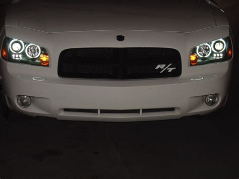 charger headlights 2006 2010 dodge charger projector headlights ccfl halo