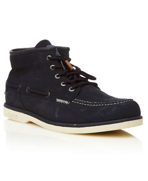 lacoste drapeau 4 casual boots in blue for lyst