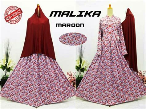 Gamis Malika Syari gamis cantik murah b103 malika syar i baju muslim motif