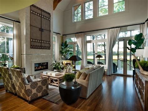 comfy great room  modern fireplace hgtv