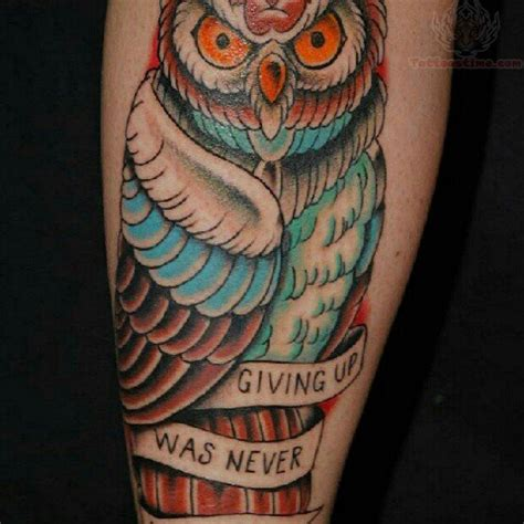 american traditional owl tattoo american owl