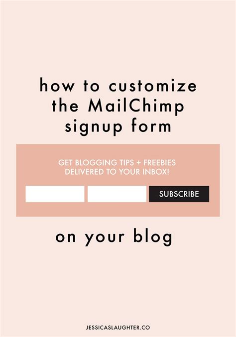 How To Customize The Mailchimp Signup Form Mailchimp Form Templates