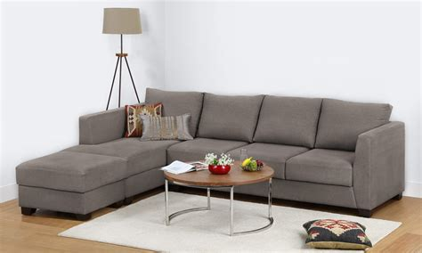 l shaped couch with ottoman buy oliver l shape sofa 3 seater with chaise ottoman l