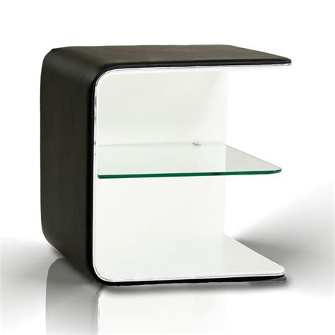 White Contemporary Nightstand spirit contemporary black and white nightstand nightstands bedroom