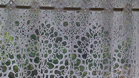 Window Art Curtain Panels Tatted Lace Elegant Imitation Of Macrame Lace Cafe