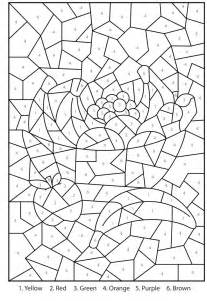 Free Mosaic Color By Number Coloring Pages Advanced Color By Number Coloring Pages