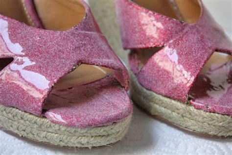 diy mod podge shoes make your mod podge glitter shoes out of your wedge