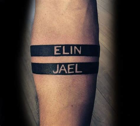 name tattoos on forearms for men 25 best ideas about armband on band