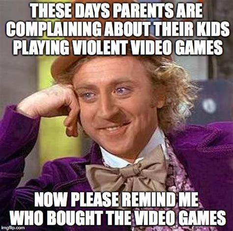 Playing Games Meme - creepy condescending wonka meme imgflip
