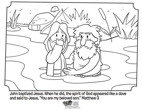 coloring page of john baptizing jesus jesus is baptized bible coloring pages what s in the