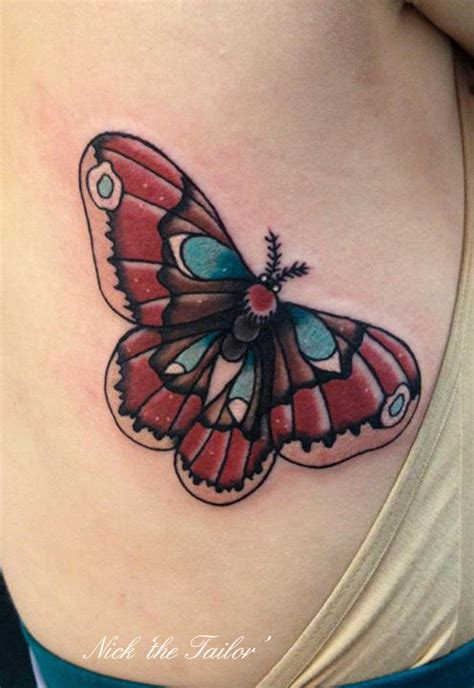 neo trad butterfly tattoo neo traditional moth tattoo