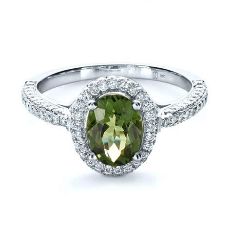 Peridot Engagement Rings by Custom Green Peridot And Engagement Ring 1125