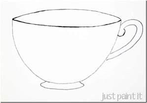 Teacup Outline Drawings by Sketching A Simple Teacup Just Paint It