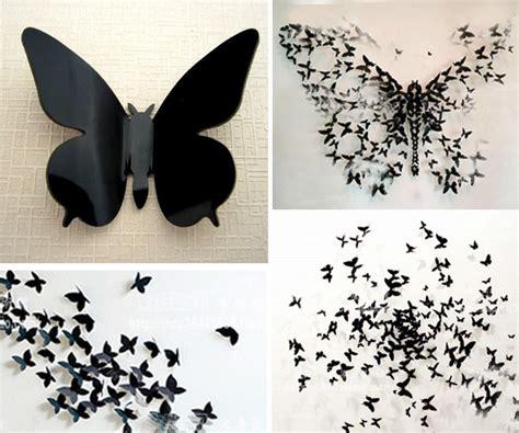 Sequins 3d Butterfly Black White Size M L 3d butterfly wall stickers wall decors wall wall decorations k ebay
