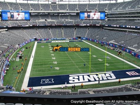 section 203a metlife stadium section 203a mezzanine endzone seating