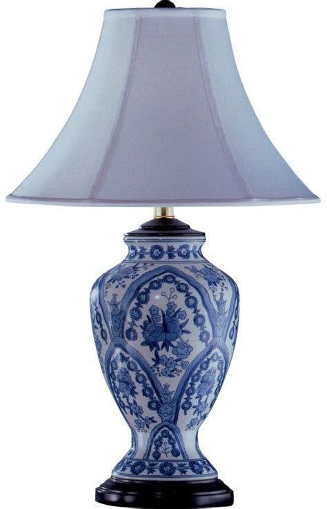 blue and white porcelain table ls santa anastriped sm22 rug accent lighting tables and