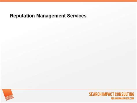 Reputation Management Template Ah Reputation Management Services Authorstream