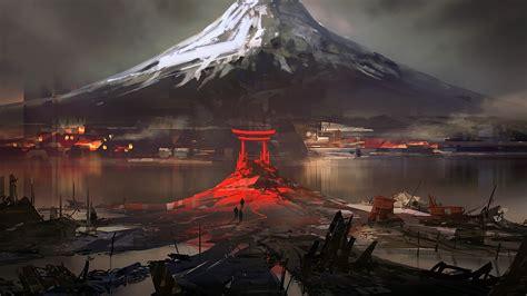wallpaper 3d japan japan mount fuji digital art wallpapers