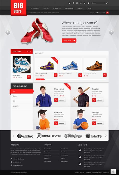 Free Ecommerce Web Templates Psd 187 Css Author Html Template For Ecommerce Site Free