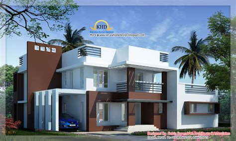 modern contemporary home plans modern contemporary villa 2700 sq ft kerala home design and floor plans