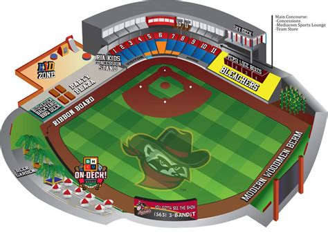 mccoy stadium seating chart seating layout cities river bandits modern woodmen park