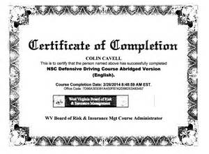 safe driving certificate template defensive driving course print certificate