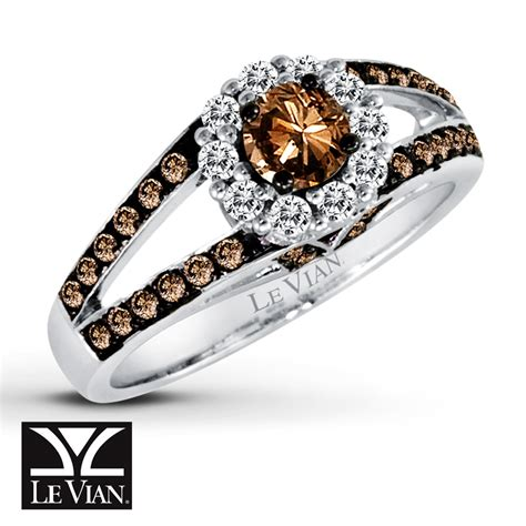 jared levian chocolate diamonds 7 8 ct tw ring 14k