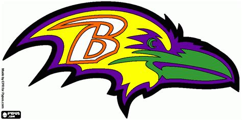 nfl ravens coloring pages baltimore ravens coloring pages
