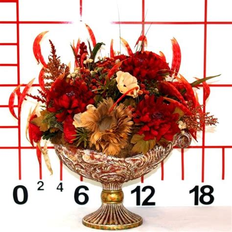 sublime silk floral centerpieces dining table decorating hand crafted dining table centerpiece silk flower