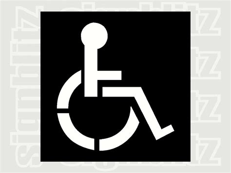 disabled parking template disabled parking r access wheelchair symbol