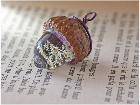 resin craft projects adorable acorn charm diy resin