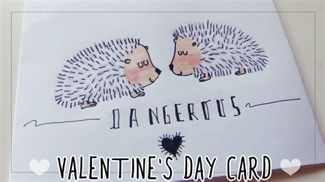 valentines day card for boyfriend s day card for boyfriend drawing hedgehogs