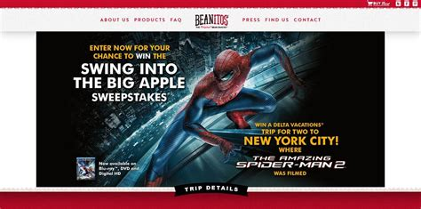 Sweepstakes Po Box - beanitos swing into the big apple sweepstakes visit the city where the amazing