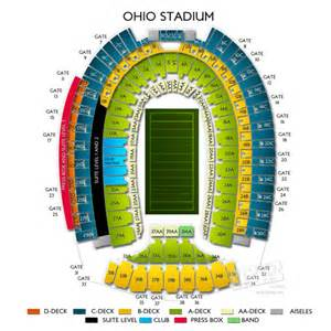 Ohio State Stadium Map by Ohio Stadium Tickets Ohio Stadium Information Ohio