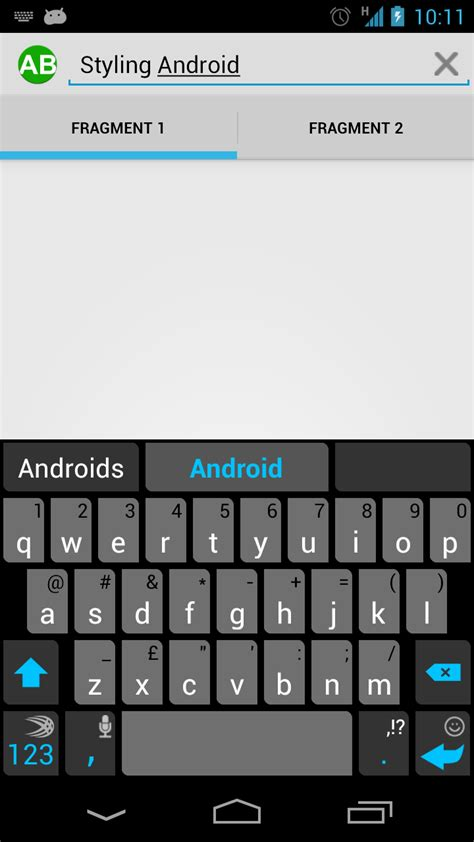 search android basic actionbar part 5 styling android